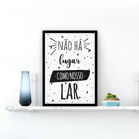 Nosso lar FUNDO BRANCO [MOLDURA E VIDRO]