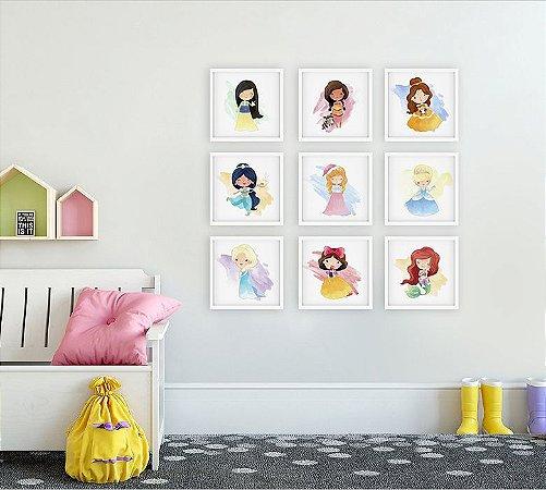 Quadros infantil Coleção Quadros Princesas da Disney [Moldura]