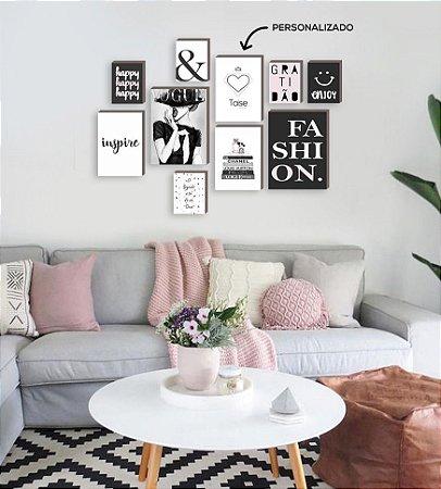 Kit quadros personalizado com nome da empresa Enjoy Fashion [BoxMadeira]