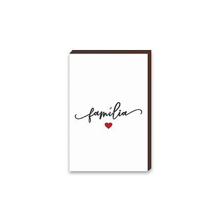 Quadro Família com coração [BoxMadeira]