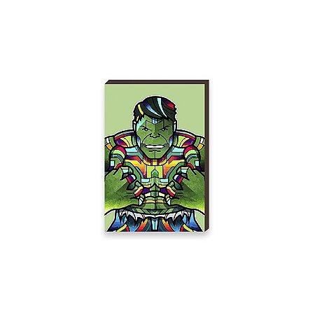 Quadro Hulk Super Heróis da Marvel Pop Art [BoxMadeira]