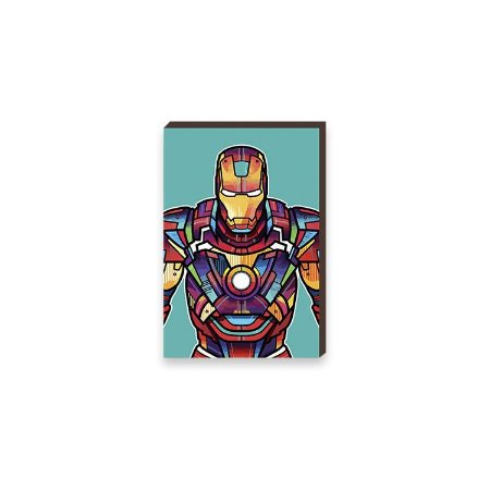 Quadro Homem de Ferro Super Heróis da Marvel Pop Art [BoxMadeira]