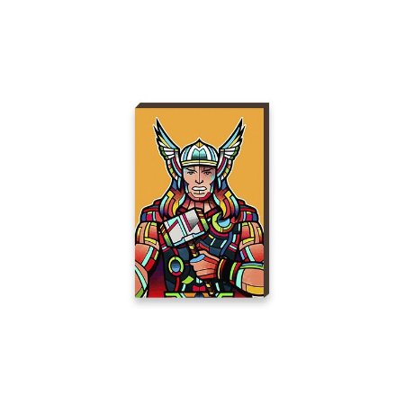 Quadro Thor Super Heróis da Marvel Pop Art [BoxMadeira]