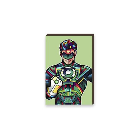 Quadro Lanterna Verde Super Heróis DC Comics Pop Art [BoxMadeira]