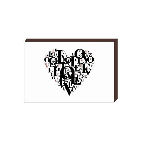 Quadro Decorativo Coração Love Rose Gold [BoxMadeira]