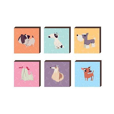 Sexteto de quadros Cães [BoxMadeira]