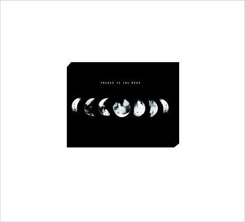 Quadro Decorativo Fases da Lua PRETO [BoxMadeira]