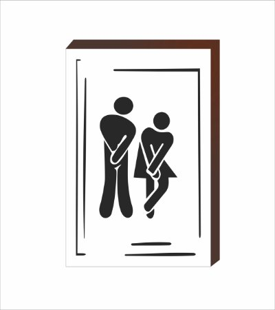 Quadro Decorativo Banheiro com borda [BOX DE MADEIRA]