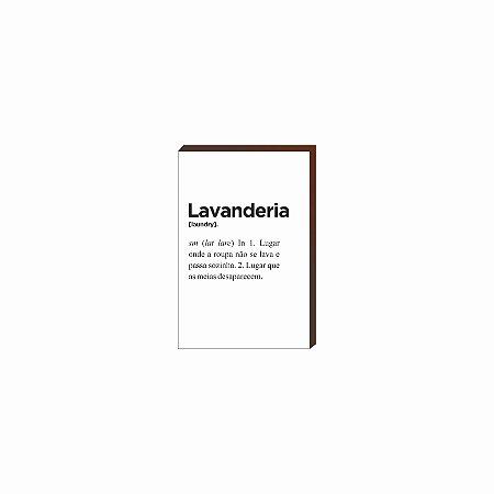 Quadro Decorativo Lavanderia [BoxMadeira]