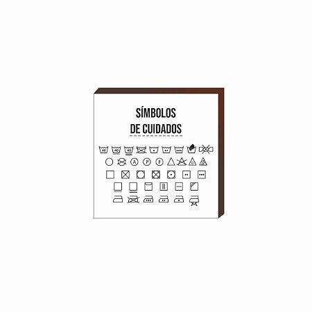 Quadro decorativo Símbolos de cuidados QUADRADO [BoxMadeira]