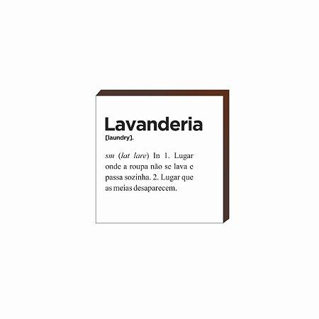 Quadro decorativo Lavanderia QUADRADO [BoxMadeira]