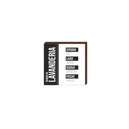 Quadro decorativo Regras da Lavanderia QUADRADO [BoxMadeira]