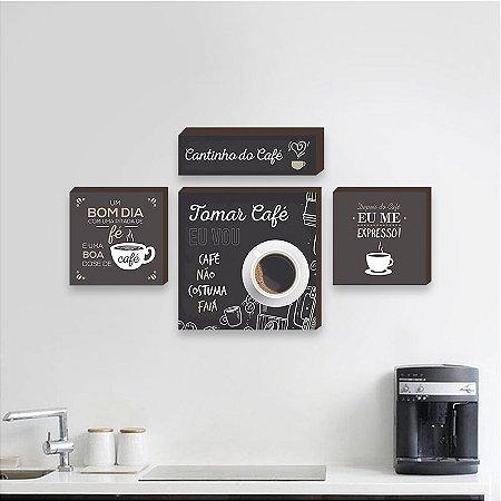 Kit Cantinho do café [Box de Madeira]