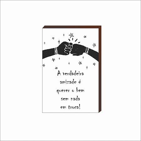 Quadro Decorativo A verdadeira amizade [BoxMadeira]