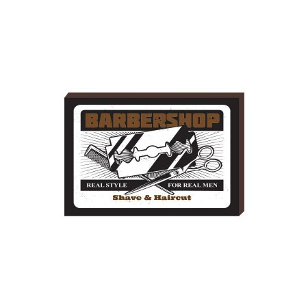 Quadro Decorativo  Barbearia Barber Shop Mod. 07 [BoxMadeira]