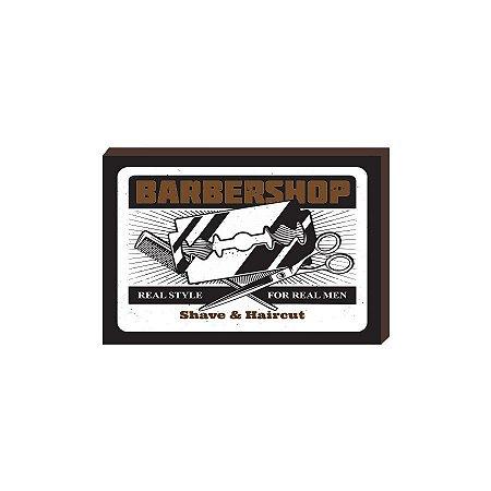 Quadro Decorativo  Barbearia Barber Shop Mod. 07 [BoxMadeira]