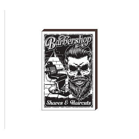 Quadro Decorativo  Barbearia Barber Shop Mod. 08 [BoxMadeira]