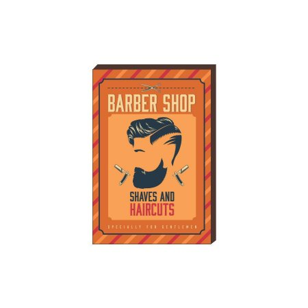 Quadro Decorativo  Barbearia Barber Shop Mod. 11 [BoxMadeira]