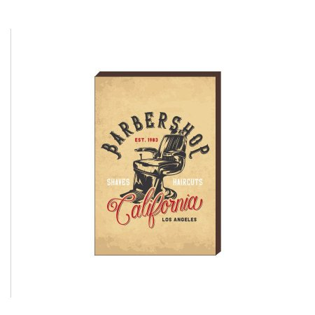 Quadro Decorativo  Barbearia Barber Shop Mod. 19 [BoxMadeira]