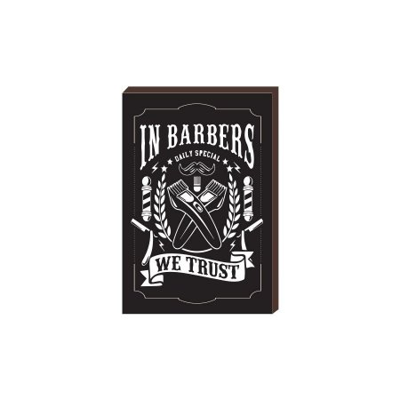 Quadro Decorativo  Barbearia Barber Shop Mod. 21 [BoxMadeira]