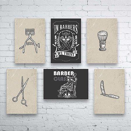 Kit PLAQUINHAS Barbearia Barber Shop Mod. 02