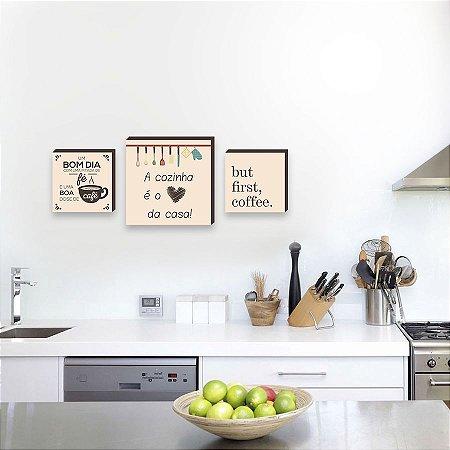 Kit de quadros Cozinha e Café [BoxMadeira]