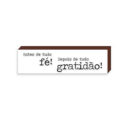 Caixinha Antes de tudo fé, depois de tudo gratidão [BOX DE MADEIRA]