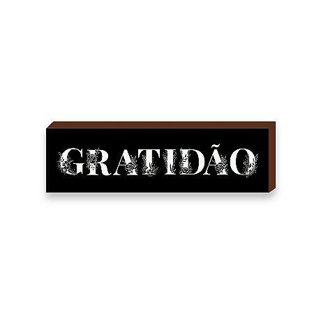 Caixinha Gratidão Florido Fundo preto [BOX DE MADEIRA]