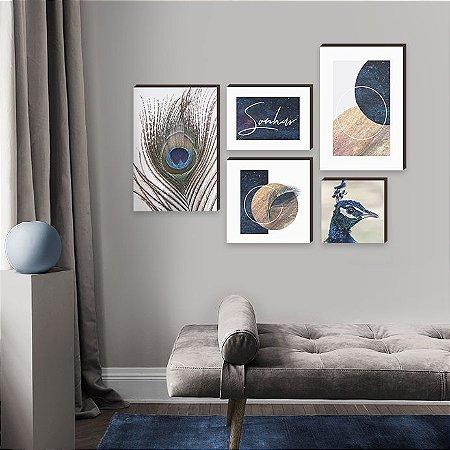 Kit de quadros Sonhar Azul