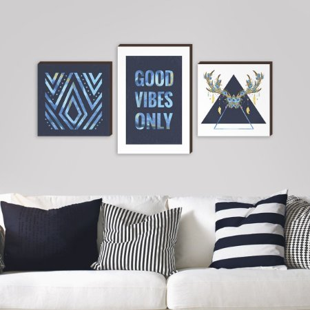 Trio Good Vibes Only Azul