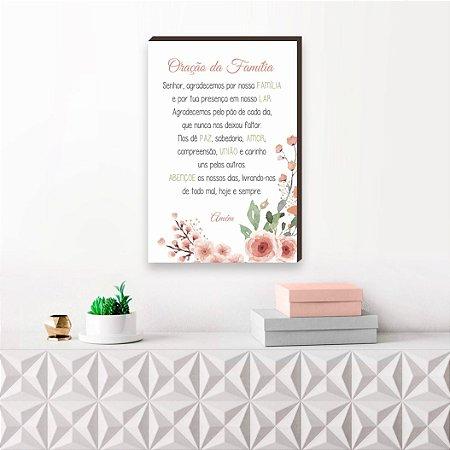 Quadro decorativo Oração da Família [BoxMadeira]