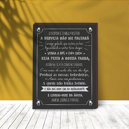Quadro Decorativo Oração do Fim de Semana [BoxMadeira]