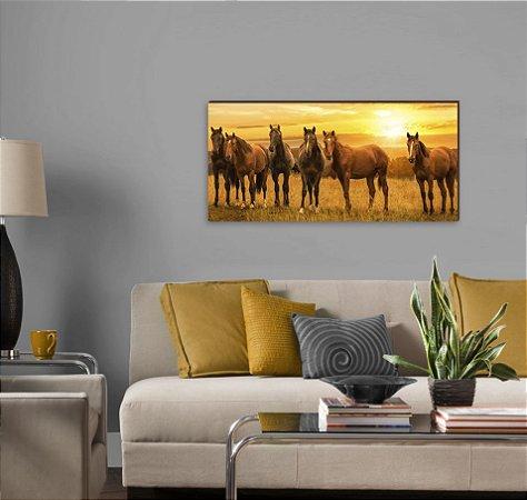 Quadro decorativo paisagem Cavalo mod 01 [BoxMadeira]