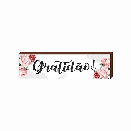 Caixinha Gratidão Floral [BOX DE MADEIRA]