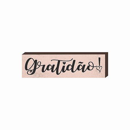 Caixinha Gratidão fundo rosa [BOX DE MADEIRA]