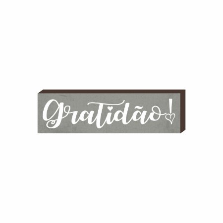 Caixinha Gratidão fundo cinza [BOX DE MADEIRA]