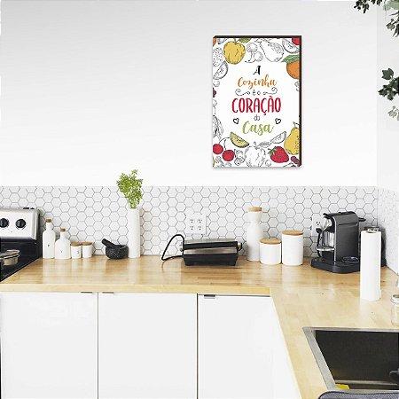 Quadro Decorativo A cozinha é o coração da casa Frutas [BoxMadeira]