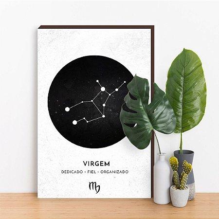 Quadro Decorativo Signos VIRGEM branco [BoxMadeira]
