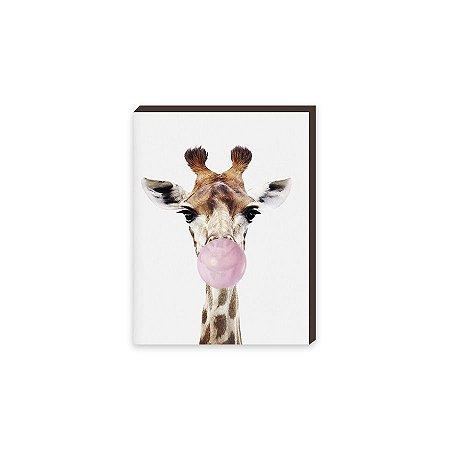 Quadro Animais Chiclete Realístico Girafa [BoxMadeira]