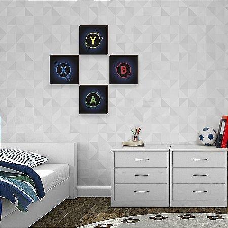 Quarteto de quadros infantil Xbox [BOX DE MADEIRA]