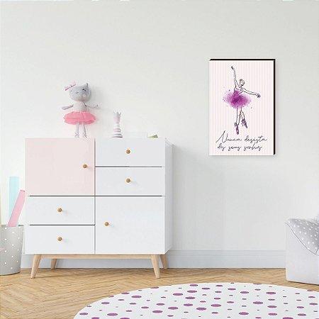 Quadro Decorativo infantil BAILARINA [BoxMadeira]