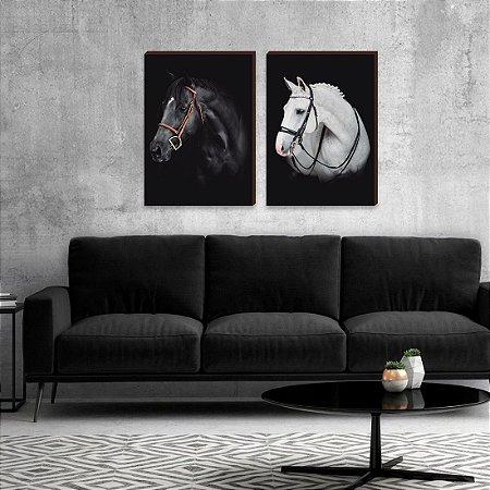 Dupla de quadros Cavalos [boxdemadeira]