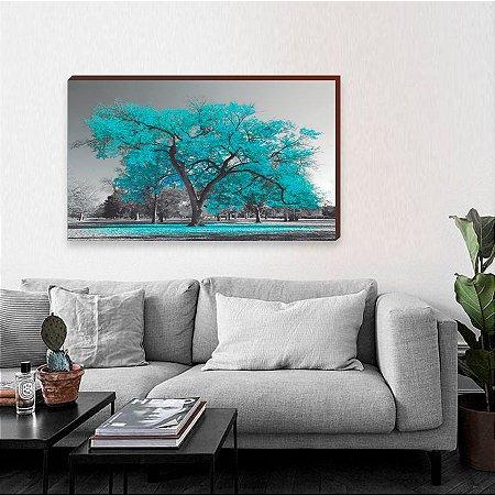 Quadro decorativo Árvore Turquesa [BoxMadeira]