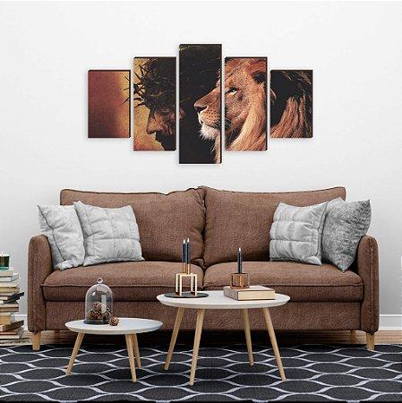 Leão + Cristo - Mosaico [BoxMadeira]