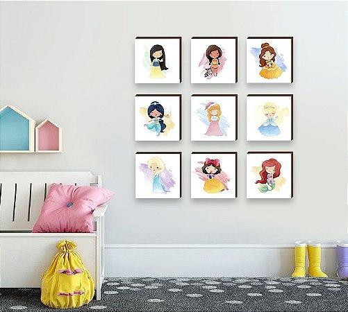 Coleção Quadros Princesas da Disney [Box de Madeira]