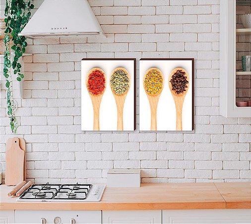 Dupla de quadros para cozinha Temperos mod.03 [boxdemadeira]