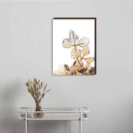 Quadro decorativo Flor Bege  [Box de Madeira]