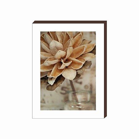 Quadro decorativo Flor [Box de Madeira]