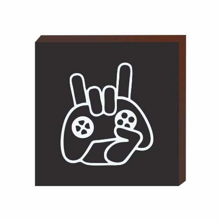 Quadro decorativo Controle vídeo game preto [BoxMadeira]