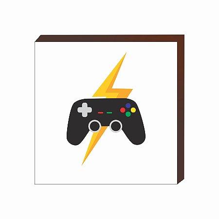 Quadro decorativo Controle vídeo game branco [BoxMadeira]
